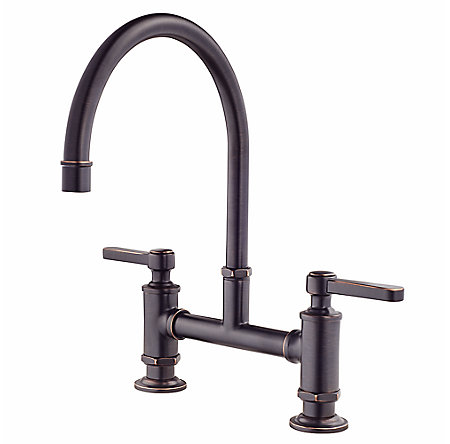 Tuscan Bronze Port Haven Bridge Kitchen Faucet   GT31 TDY   1