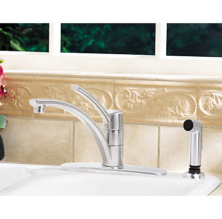 Stainless Steel Parisa 1-Handle Kitchen Faucet - GT34-4NSS - 2