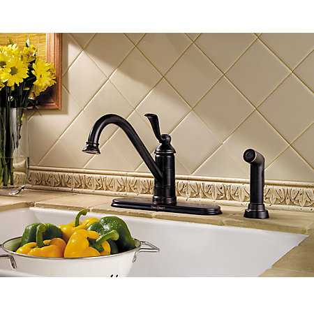 Tuscan Bronze Portland 1-Handle Kitchen Faucet - LG34-4PY0 - 3