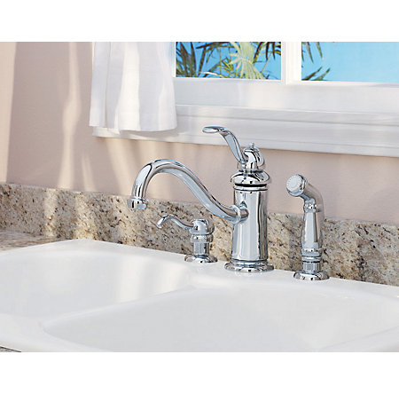 Polished Chrome Marielle 1-Handle Kitchen Faucet - GT34-4TCC - 3