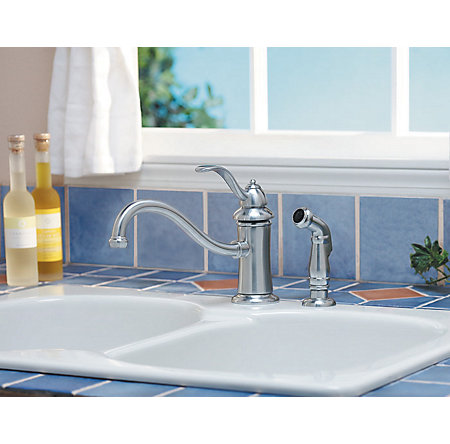 Stainless Steel Marielle 1-Handle Kitchen Faucet - GT34-4TSS - 4