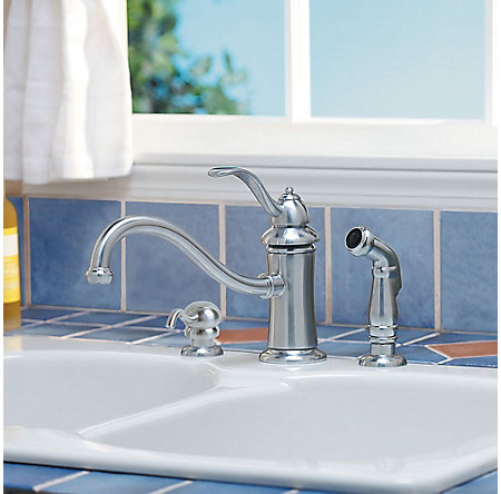 Stainless Steel Marielle 1-Handle Kitchen Faucet - GT34-PTSS - 2