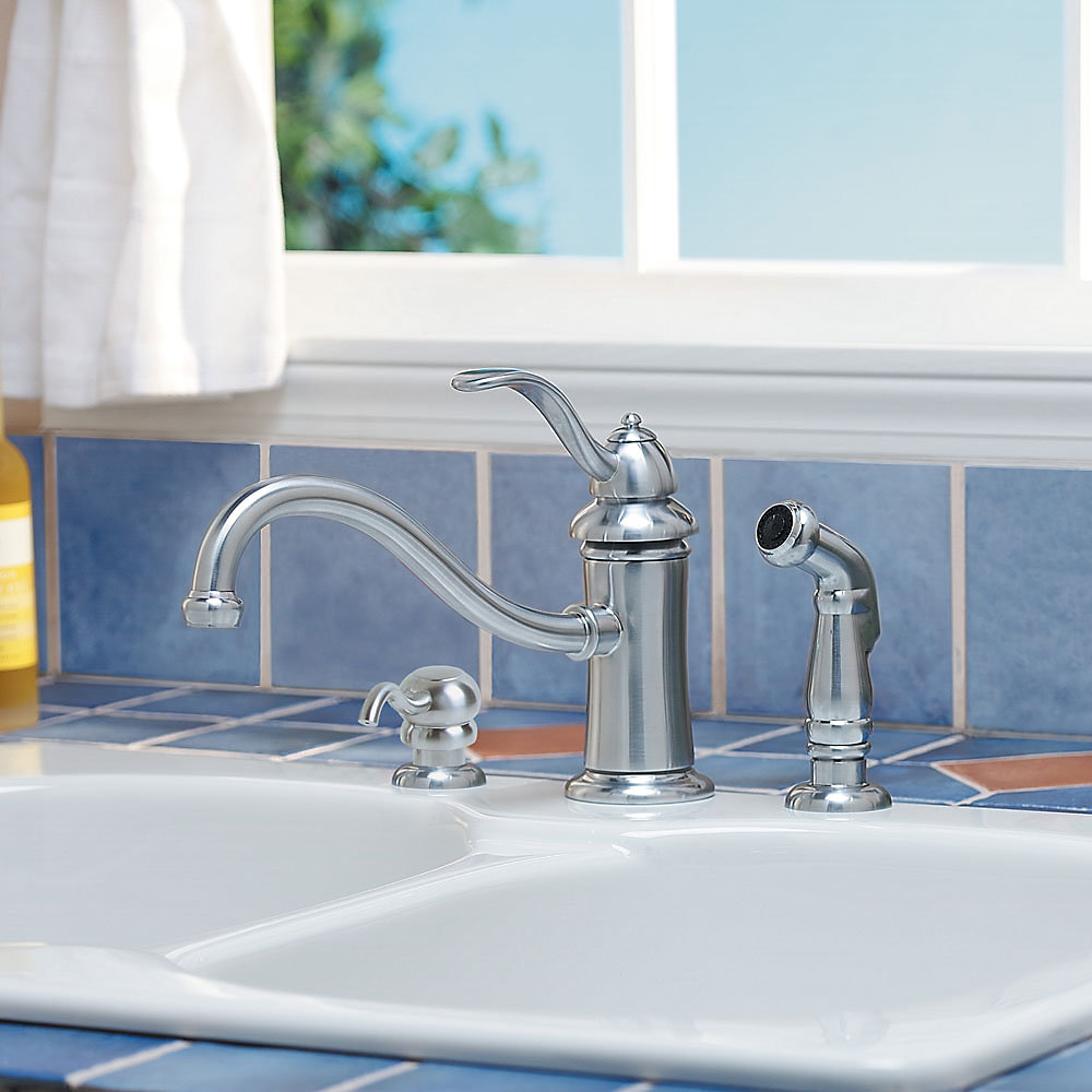 Stainless Steel Marielle 1-Handle Kitchen Faucet - GT34-PTSS ...
