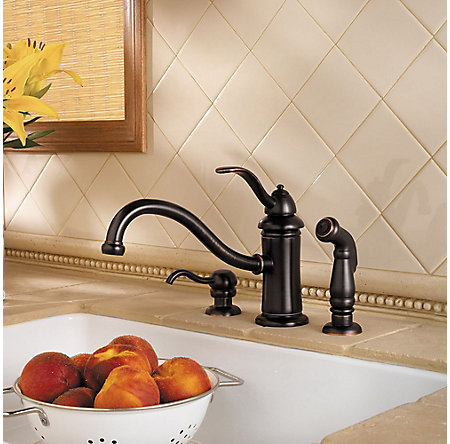 Tuscan Bronze Marielle 1-Handle Kitchen Faucet - GT34-PTYY - 2