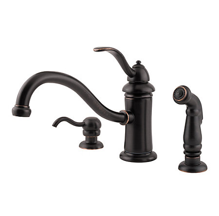 Tuscan Bronze Marielle 1-Handle Kitchen Faucet - GT34-PTYY - 1