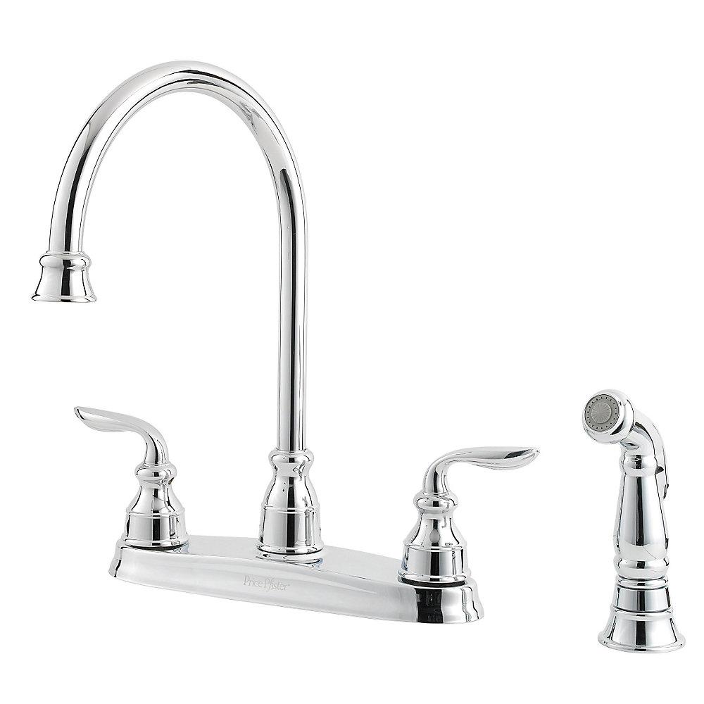 Polished Chrome Avalon 2-Handle Kitchen Faucet - GT36-4CBC ...