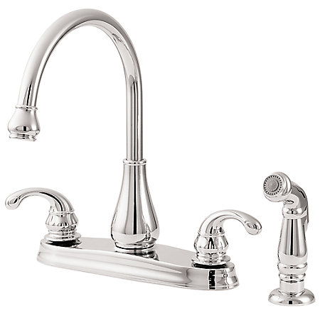 Polished Chrome Treviso 2-Handle Kitchen Faucet - GT36-4DCC - 1