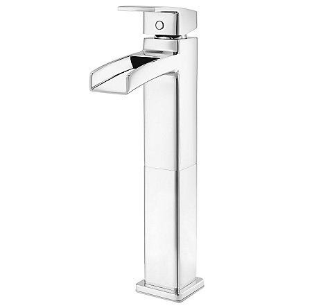 Polished Chrome Kenzo Single Handle Trough Vessel Bath Faucet - LG40-DF0C - 1