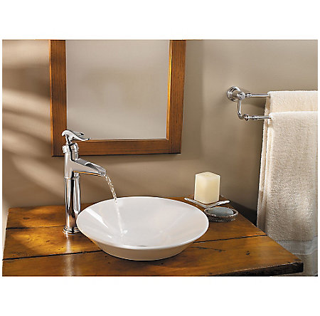 Polished Chrome Ashfield Single Handle Vessel Faucet - LG40-YP0C - 2