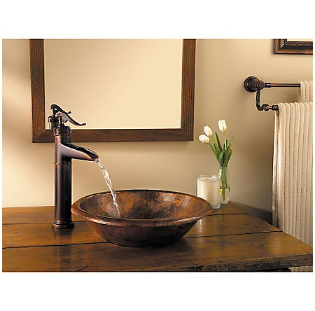 Rustic Bronze Ashfield Single Handle Vessel Faucet - LG40-YP0U - 2