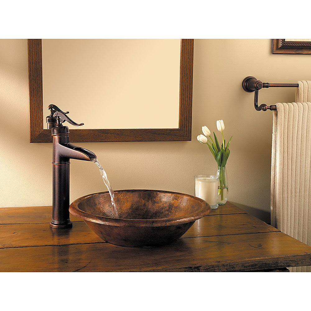 Rustic Bronze Ashfield Single Handle Vessel Faucet   LG40 YP0U   2