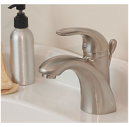 Brushed Nickel Parisa Single Control, Centerset Bath Faucet - LG42-AMCK - 2
