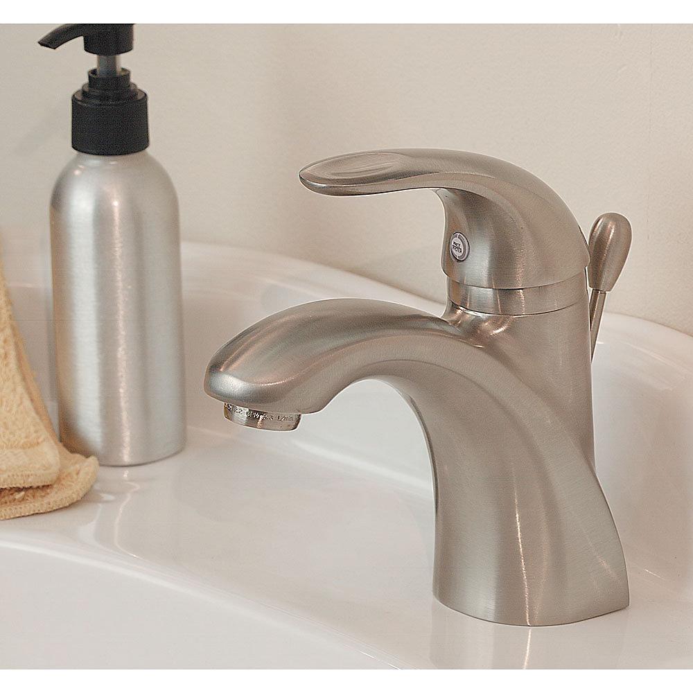 Charming Brushed Nickel Parisa Single Control, Centerset Bath Faucet   LG42 AMCK   2