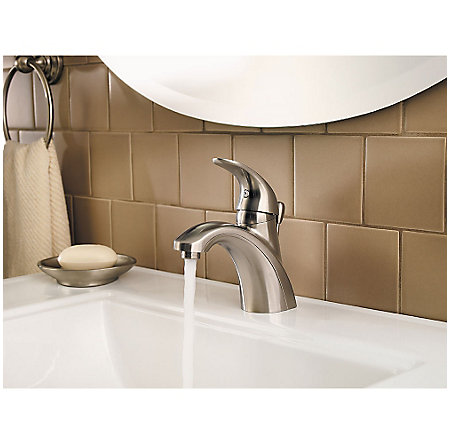 Brushed Nickel Parisa Single Control, Centerset Bath Faucet - LG42-AMCK - 4