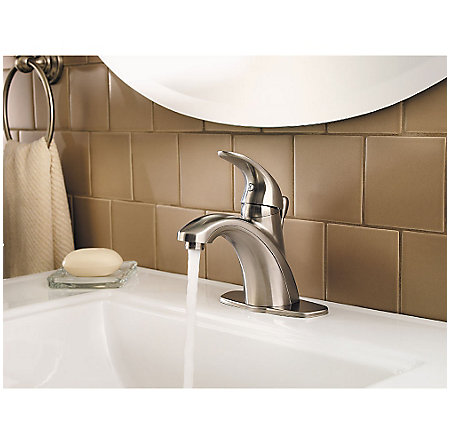 Brushed Nickel Parisa Single Control, Centerset Bath Faucet - LG42-AMCK - 6