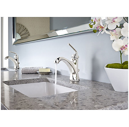 Polished Nickel Arterra Single Control Lavatory Faucet - LG42-DE0D - 3