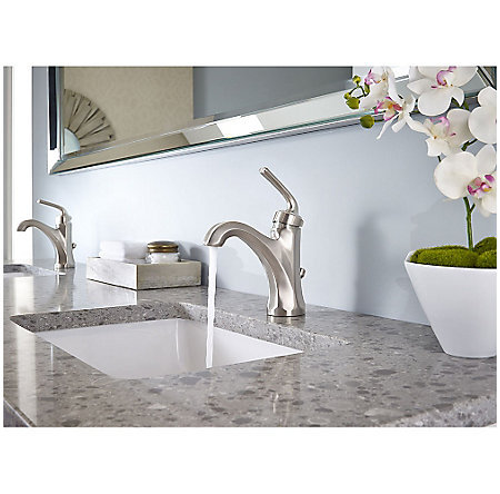 Brushed Nickel Arterra Single Control Lavatory Faucet - LG42-DE0K - 3