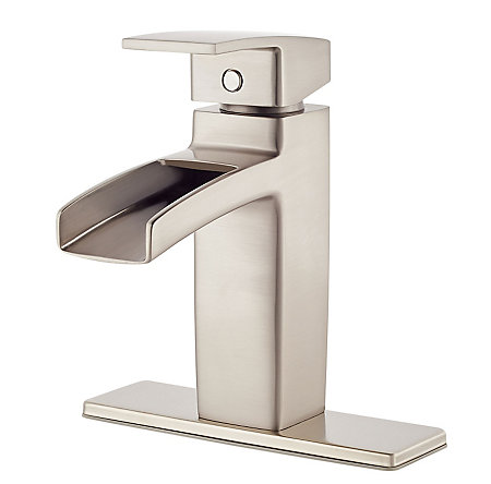 Brushed Nickel Kenzo Single Control, Trough Bath Faucet - LG42-DF0K - 2