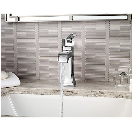 Polished Chrome Park Avenue Single Control, Centerset Bath Faucet - LG42-FE0C - 3