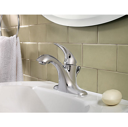 Polished Chrome Serrano Single Control Bath Faucet - LG42-SR0C - 2