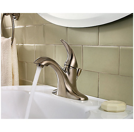 Brushed Nickel Serrano Single Control Bath Faucet - LG42-SR0K - 3