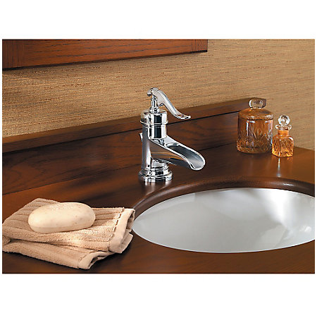 Polished Chrome Ashfield Single Control, Centerset Bath Faucet - LG42-YP0C - 3
