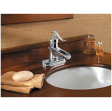 Polished Chrome Ashfield Single Control, Centerset Bath Faucet - LG42-YP0C - 4