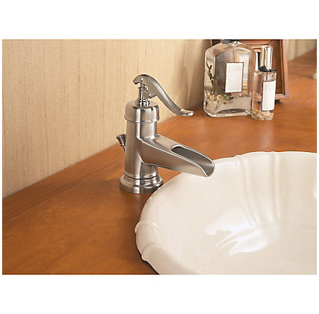 Brushed Nickel Ashfield Single Control, Centerset Bath Faucet - LG42-YP0K - 5