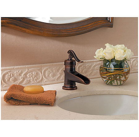 Rustic Bronze Ashfield Single Control, Centerset Bath Faucet - LG42-YP0U - 3