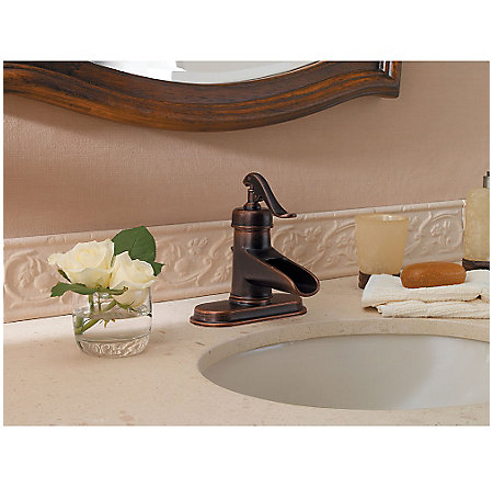 Rustic Bronze Ashfield Single Control, Centerset Bath Faucet - LG42-YP0U - 4