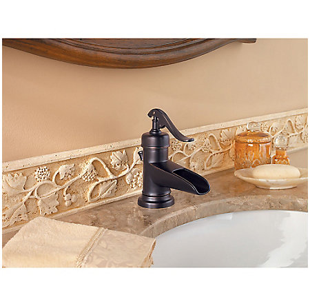 Tuscan Bronze Ashfield Single Control, Centerset Bath Faucet - LG42-YP0Y - 3