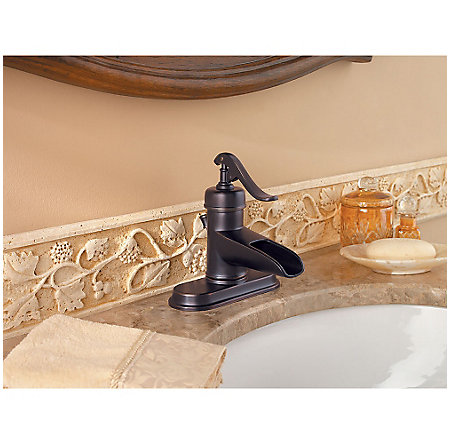 Tuscan Bronze Ashfield Single Control, Centerset Bath Faucet - LG42-YP0Y - 4