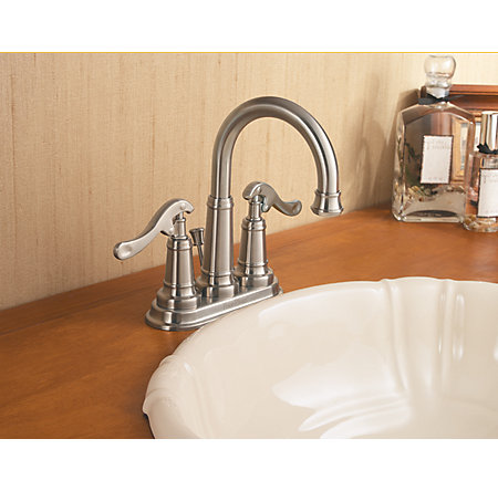 Brushed Nickel Ashfield Centerset Bath Faucet - GT43-YP0K - 2