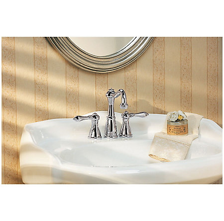 Polished Chrome Marielle Mini-Widespread Bath Faucet - LG46-M0BC - 2