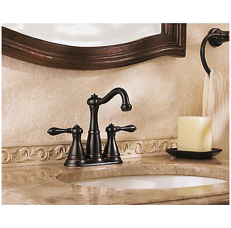 Tuscan Bronze Marielle Mini-Widespread Bath Faucet - LG46-M0BY - 3