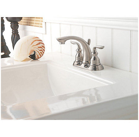 Brushed Nickel Avalon Centerset Bath Faucet - GT48-CB0K - 3