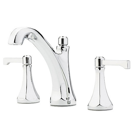 "Polished Chrome Arterra 8"" Widespread Lavatory Faucet - LG49-DE0C - 1"