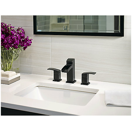 Black Kenzo Widespread Trough Bath Faucet - LG49-DF0B - 2