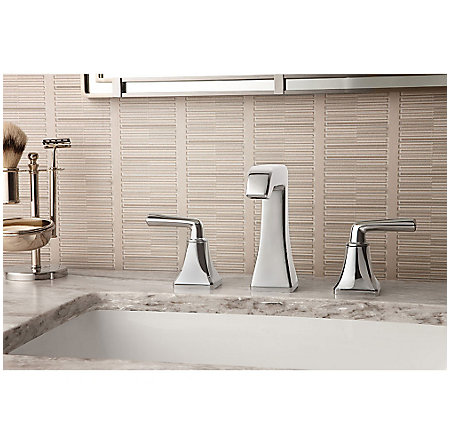 Polished Chrome Park Avenue Widespread Bath Faucet - LG49-FE0C - 2