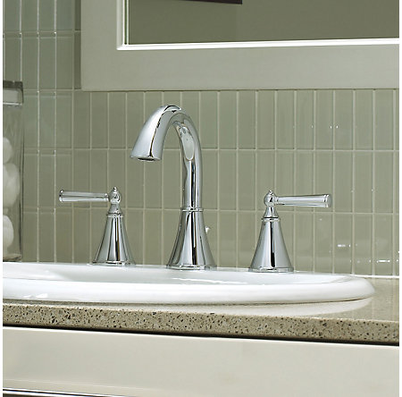 Polished Chrome Saxton Widespread Bath Faucet - LG49-GL0C - 3