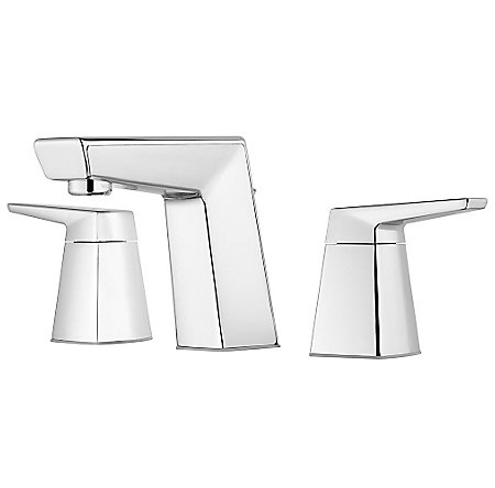 "Polished Chrome Arkitek 8"" Widespread Lavatory Faucet - LG49-LPMC - 1"