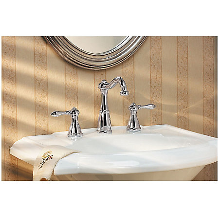 Polished Chrome Marielle Widespread Bath Faucet - LG49-M0BC - 2