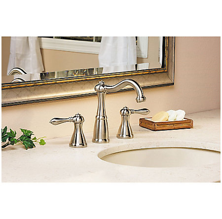 Brushed Nickel Marielle Widespread Bath Faucet - LG49-M0BK - 3