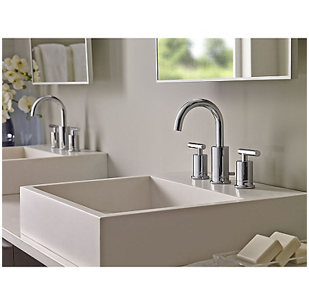 Polished Chrome Contempra Widespread Bath Faucet - LG49-NC1C - 2