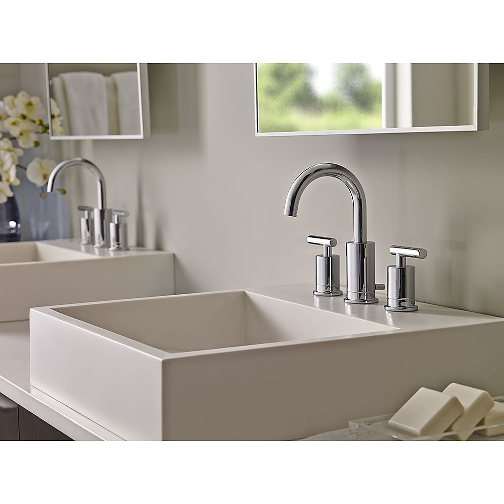 Polished Chrome Contempra Widespread Bath Faucet - LG49-NC1C ...