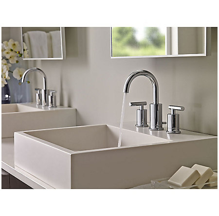 Polished Chrome Contempra Widespread Bath Faucet - LG49-NC1C - 3