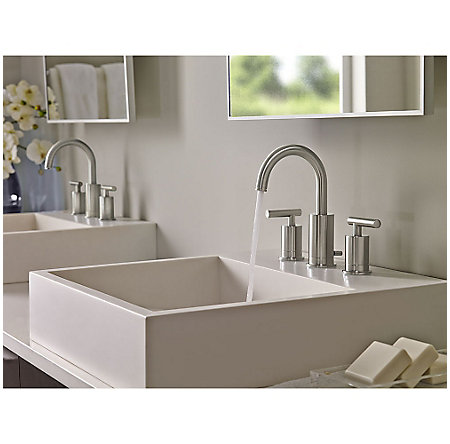 Brushed Nickel Contempra Widespread Bath Faucet - LG49-NC1K - 3