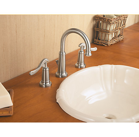 Brushed Nickel Ashfield Widespread Bath Faucet - GT49-YP0K - 3