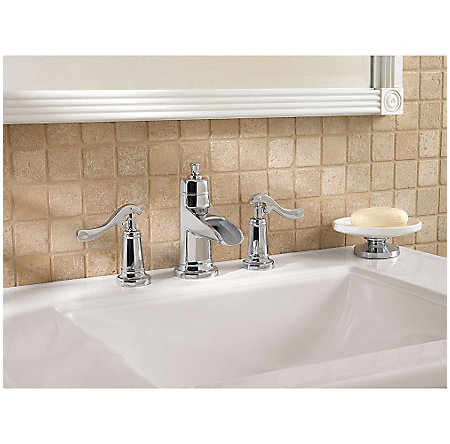 Polished Chrome Ashfield Widespread Bath Faucet - LG49-YP1C - 2