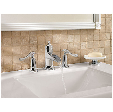 Polished Chrome Ashfield Widespread Bath Faucet - LG49-YP1C - 3